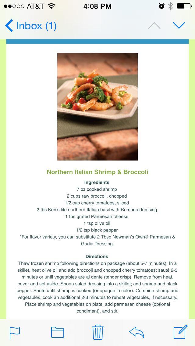 Northern Italian Shrimp and Broccoli