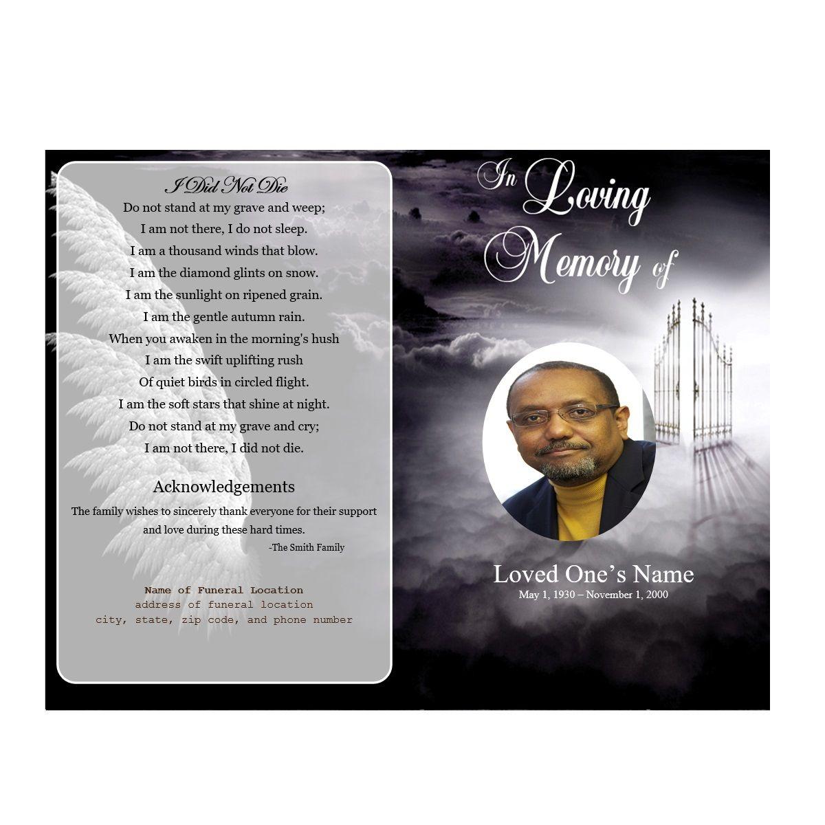 Heaven\'s gate funeral program | Templates | Pinterest | Microsoft ...