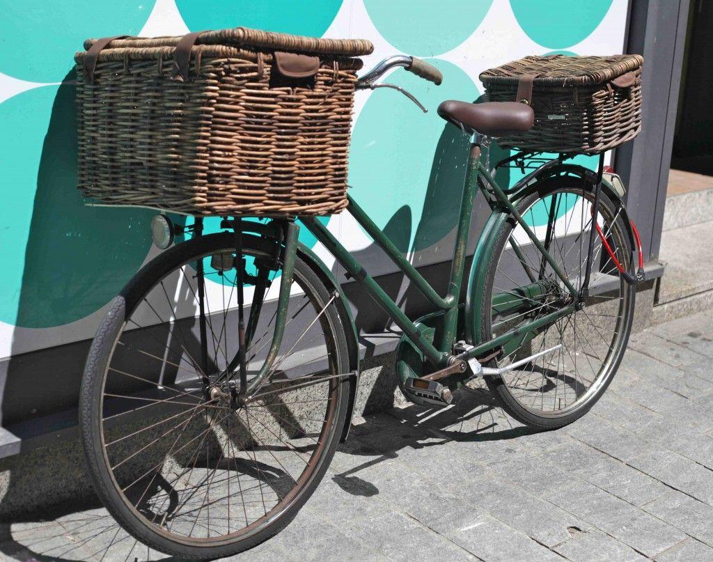 FWE Retro City Vélo Bagages osier Guidon Panier avec support