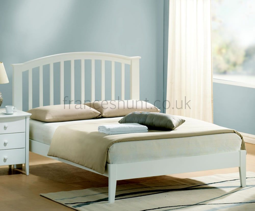 Kennedy Ivory Wooden Bed Frame White Bed Frame Wooden King Size