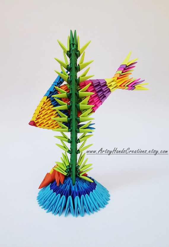 3d Origami Fish Paper Decorative Item Handmade Gift Idea