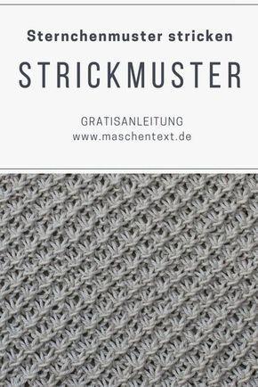 Photo of Strickmuster: Stricksternchenmuster maschentext.de