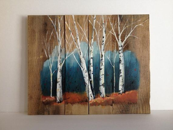 Pallet painting distressed wood art pallet art for Wood plank art ideas
