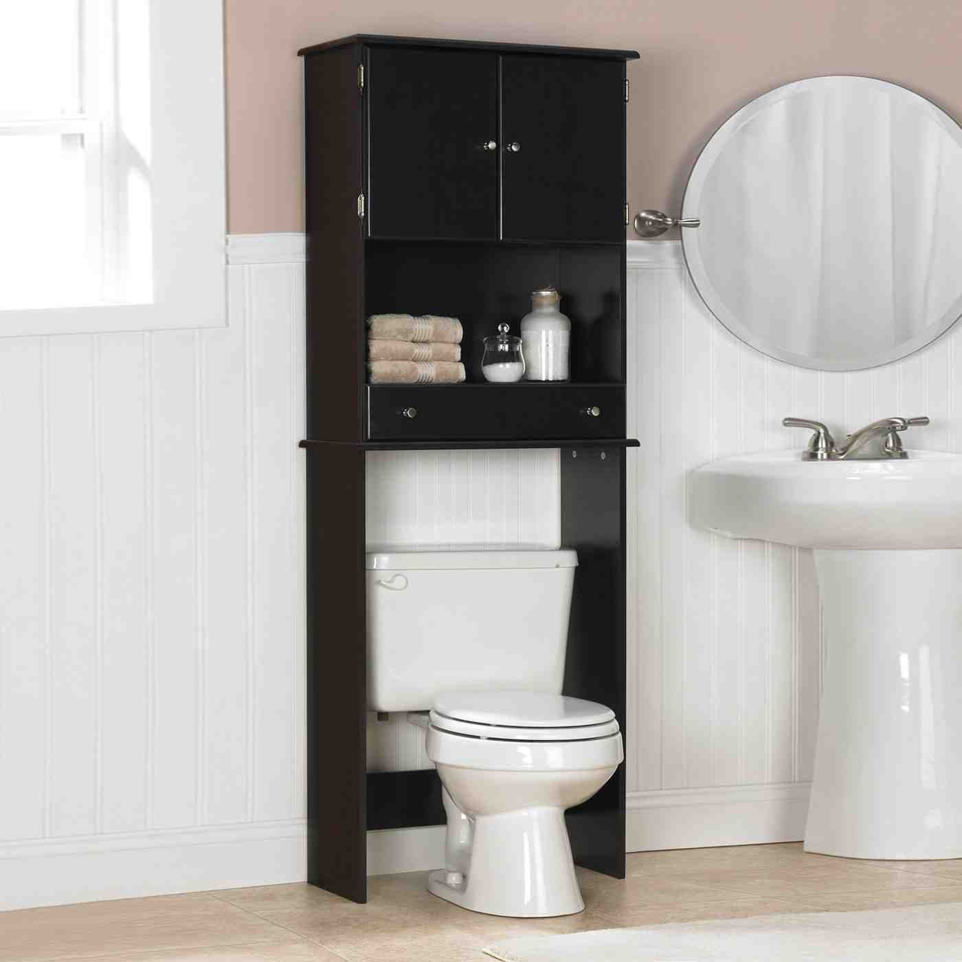 Black Bathroom Storage Cabinet With Images Black Bathroom
