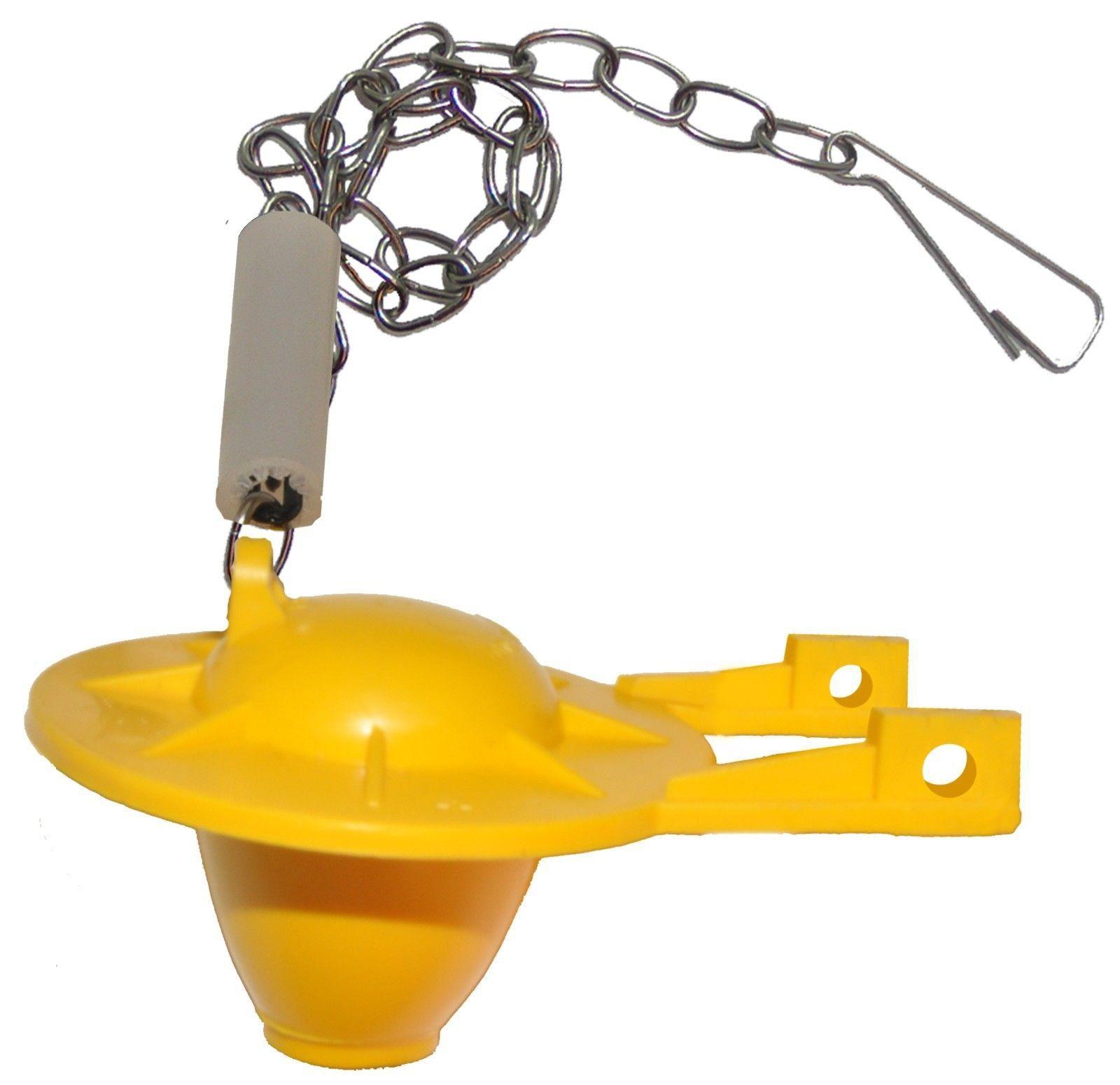 Flushline Universal 2 Inch Toilet Tank Flapper Yellow Wasp X