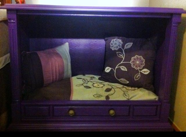 My First Pinterest Project Dog Bed I Made From An Old