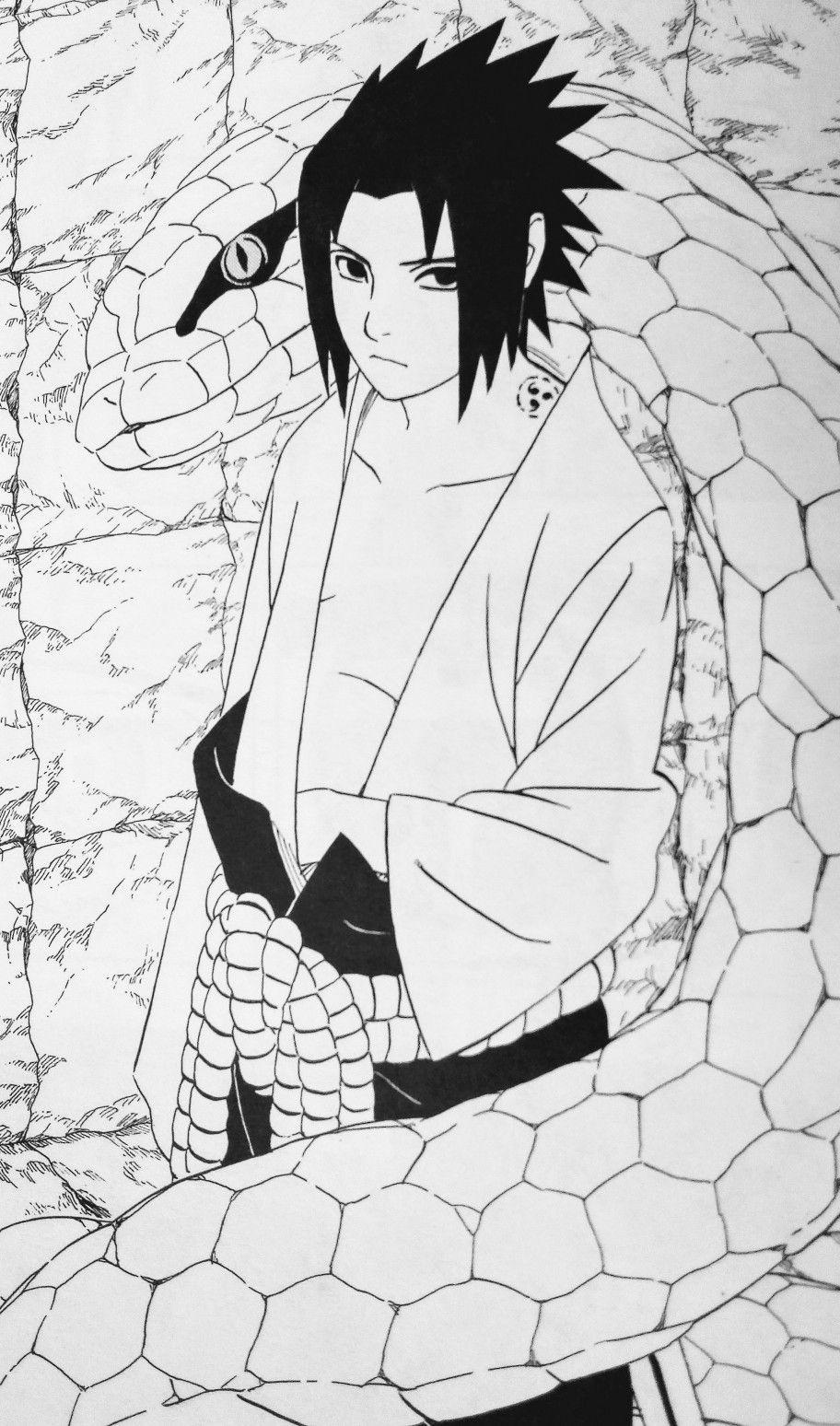 Sasuke Big Snake Naruto Drawings Naruto Sketch Naruto Shippuden Anime