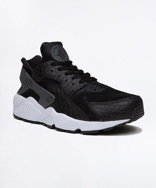 the best attitude 64c8f 3eea5 Nike Air Huarache Run Premium Trainer   Black   Dark Grey   White   Drome