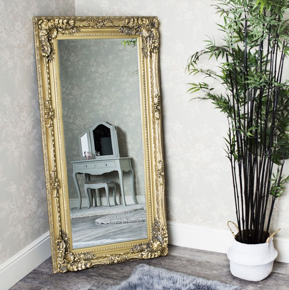 Pin by nicola durham on Decor Gold ornate mirror, Leaner