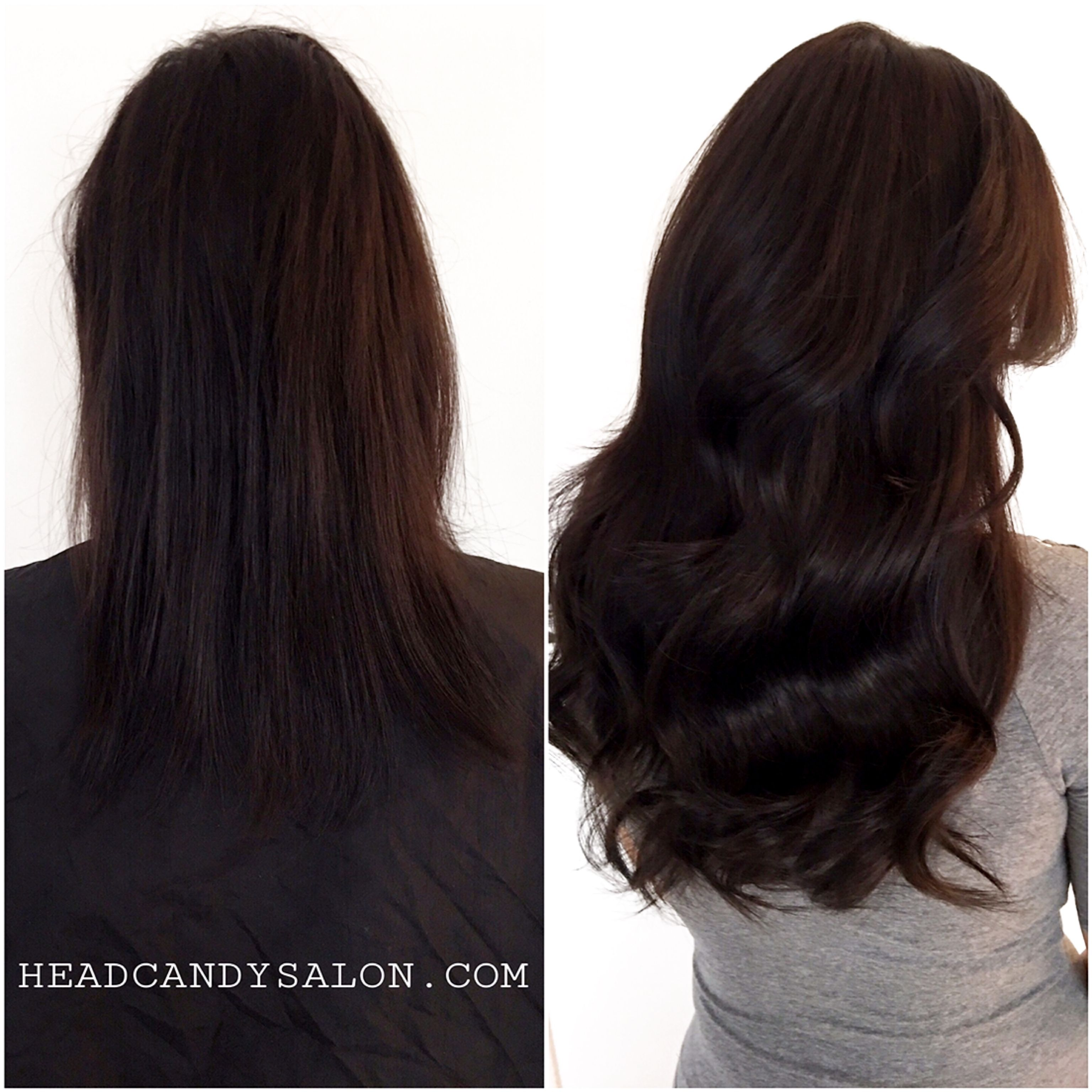 Before And After Hidden Tape Hair Extensions Hairextensions