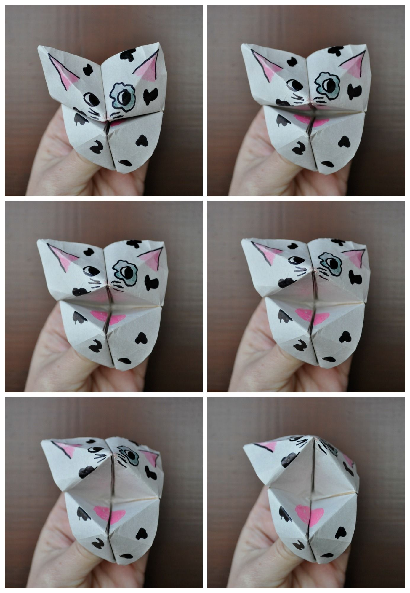 How to make chatterbox critters make origami chatterboxes for How to make a chatterbox template