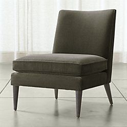 Crate And Barrel Callie Chair In Graphite 25 5 X 36 X 34 H 679 Chair Living Room Chairs Furniture Clearance