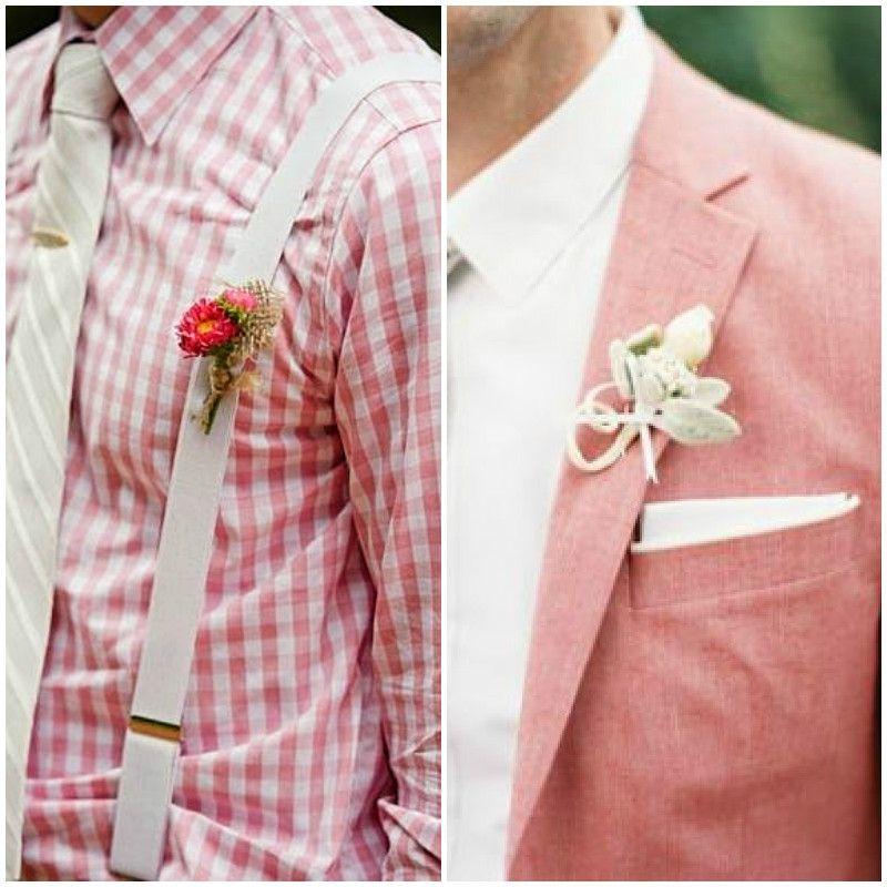 Detalles en traje para novio en color #StrawberryIce #Groom #Wedding ...
