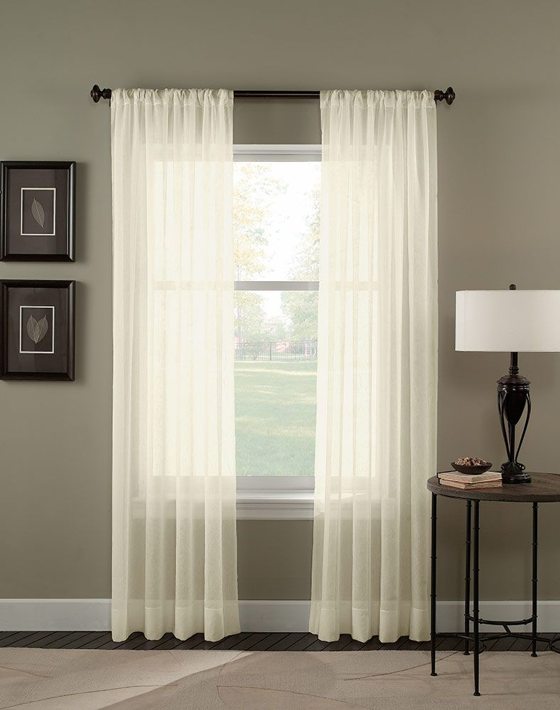 Sheer Window Fashions Gain Added Surface Interest With The Extra