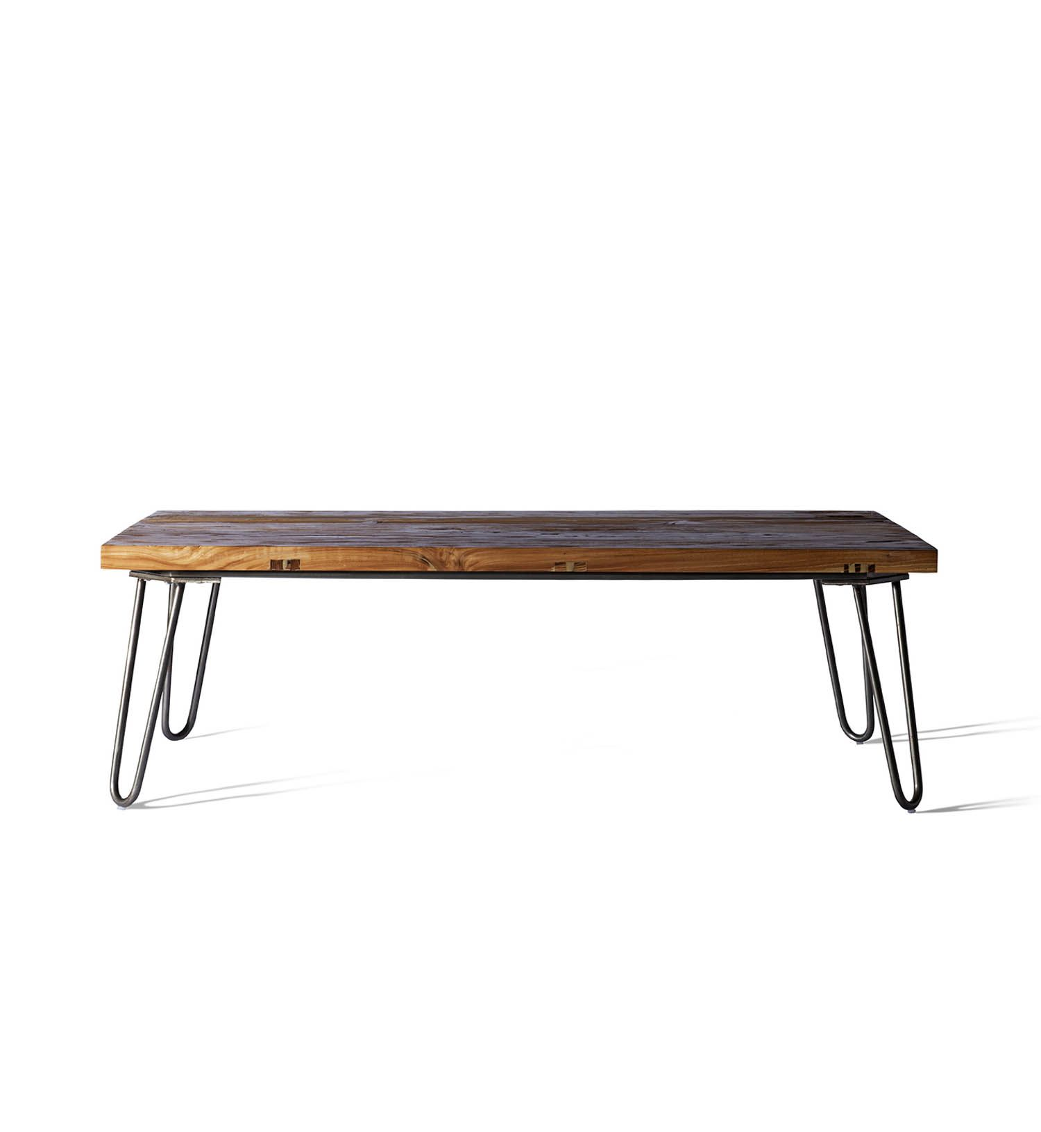 The spoke coffee tables hairpin form is a staple that was popularized during the post war modern furniture movement the tables hairpin legs are