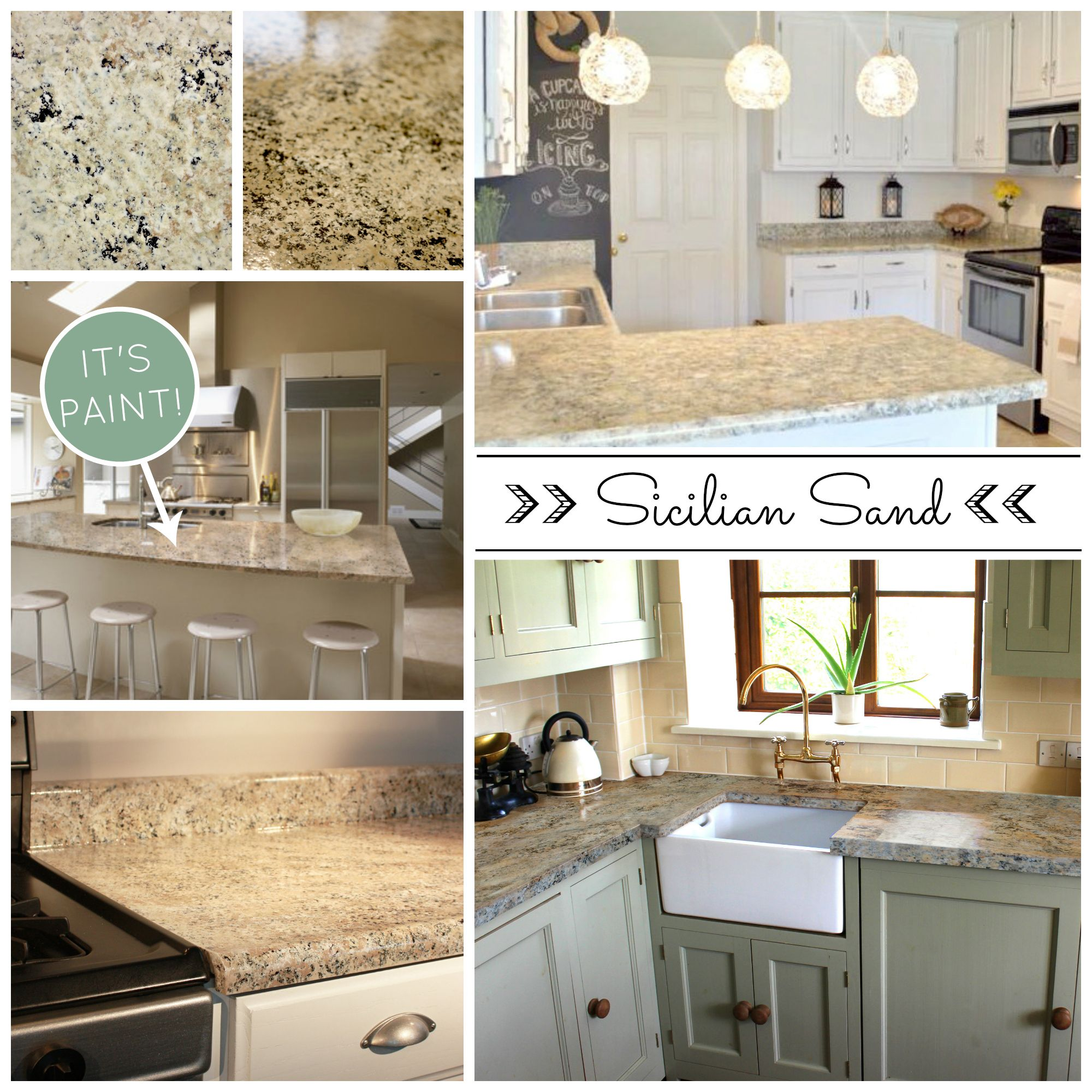 Beautiful And Affordable PAINTED Countertops! DIY
