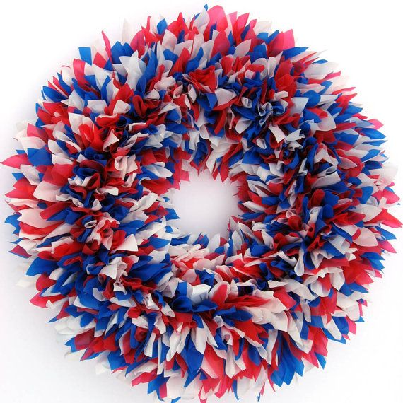 Photo of Items similar to red white and blue wreath – 4th of July wreath – 4th of July wreath – Patriotic wreath – Door wreath – Summer wreath – Memorial day wreath on Etsy
