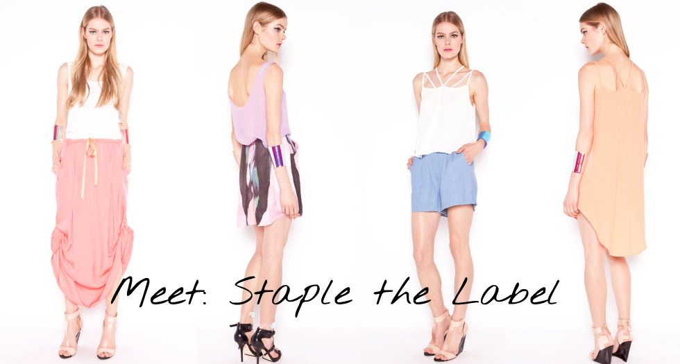 Staple the label - basics with a twist