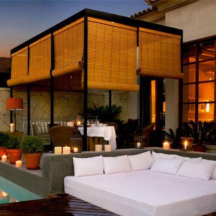 Persianas alicantinas de madera en 2019 pergolas for Persianas para terrazas