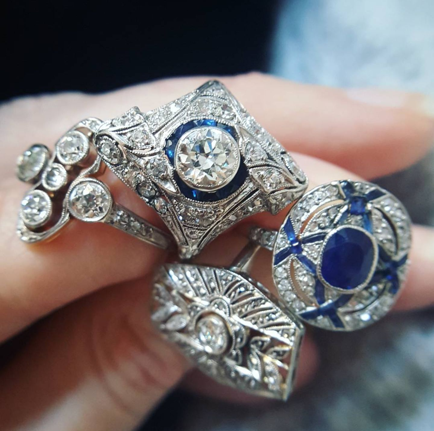 Antique engagement rings vintage engagement rings sapphire and
