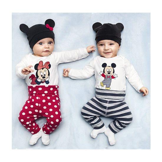 Newborn Baby Boy Girl Long Sleeve Letter Romper Cartoon Animal Pants Cap 3pcs Clothes Set