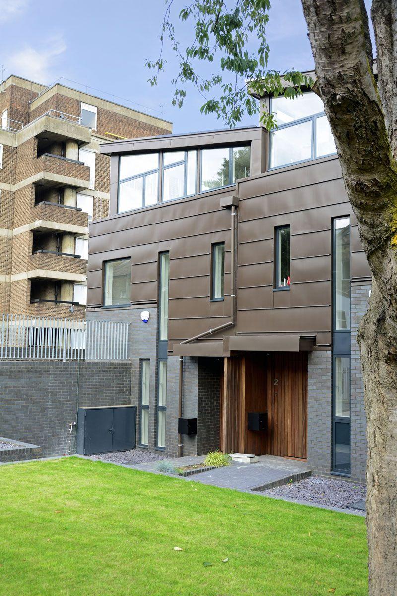 Best Brown Zinc Townhouses Church Walk Stoke Newington Zinc 400 x 300