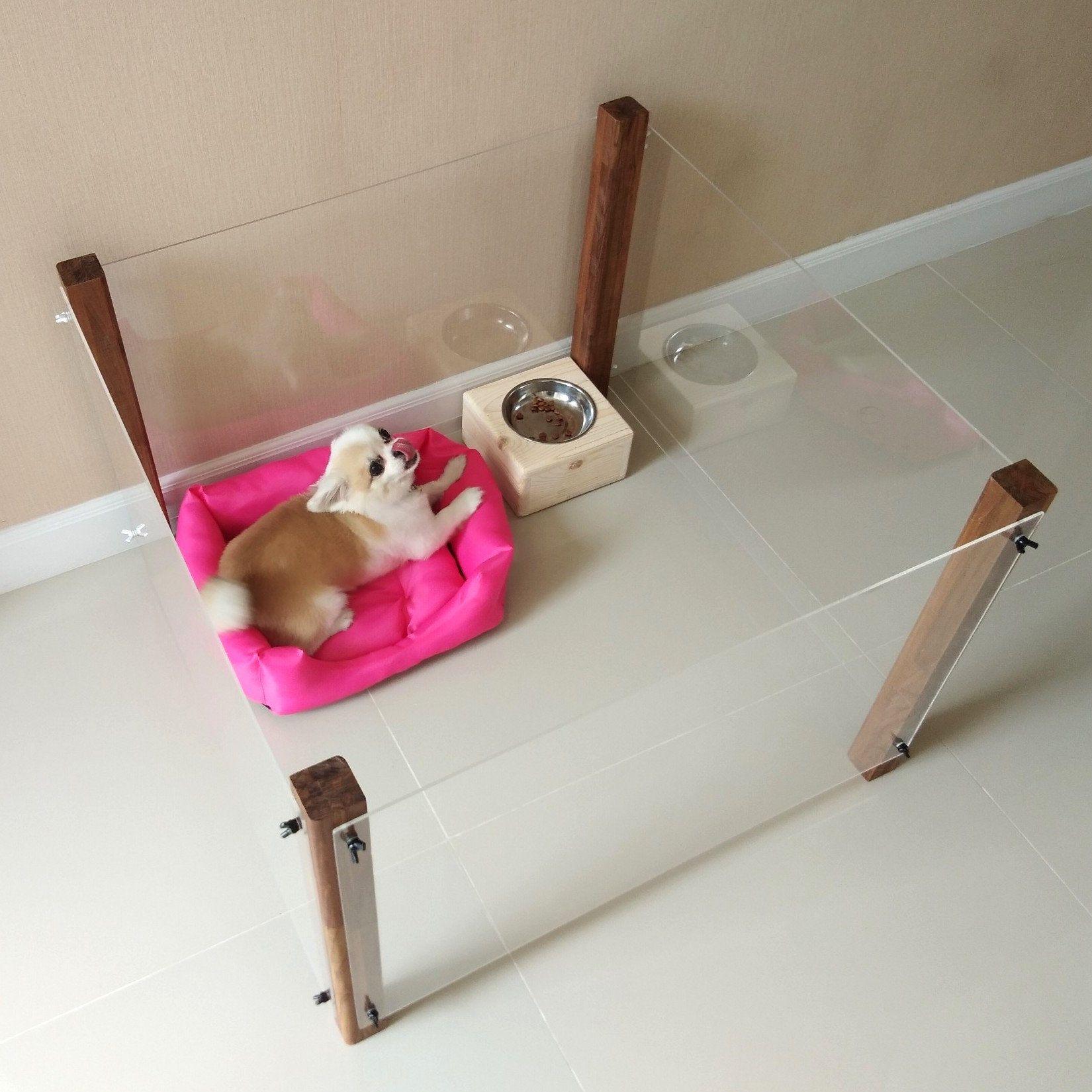 Dog Pet Create Kennel Furniture Indoor Teak Wood By Foxtalesth On Etsy Dog Crate Furniture Dog Crate Crates