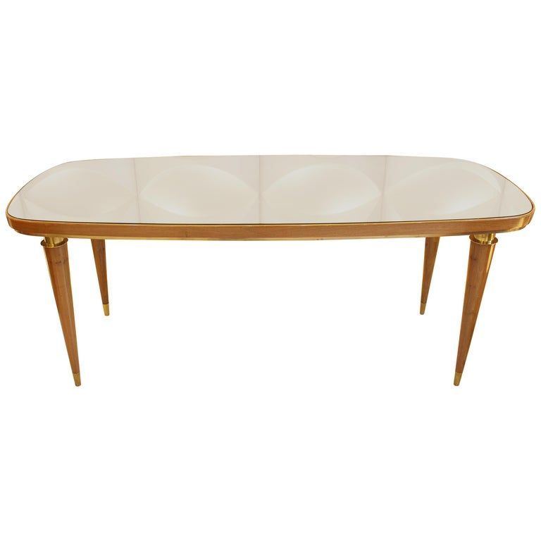 1stdibs Dining Room Table / Dining Table - Dinning Glass Top 1950S Italian Wood#1950s #1stdibs #dining #dinning #glass #italian #room #table #top #wood