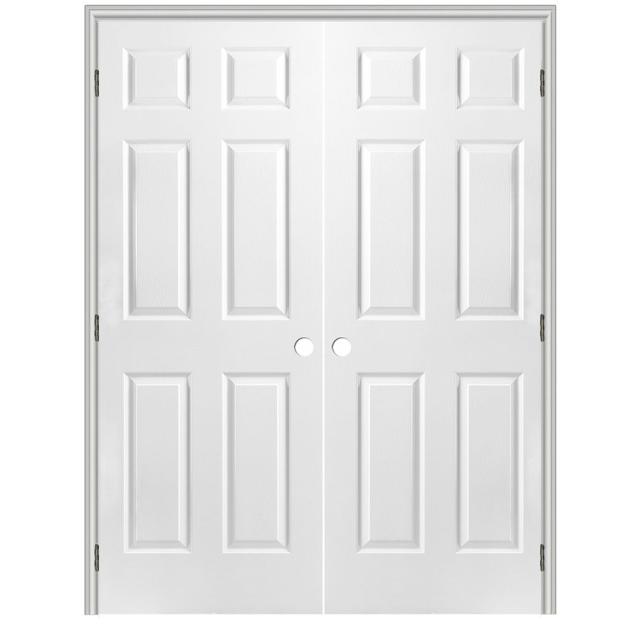 Reliabilt Prehung Hollow Core 6 Panel Interior Door Common 36 In X French Doorsprehung