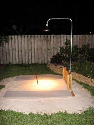 Bocce Ball Court Backyard Lights