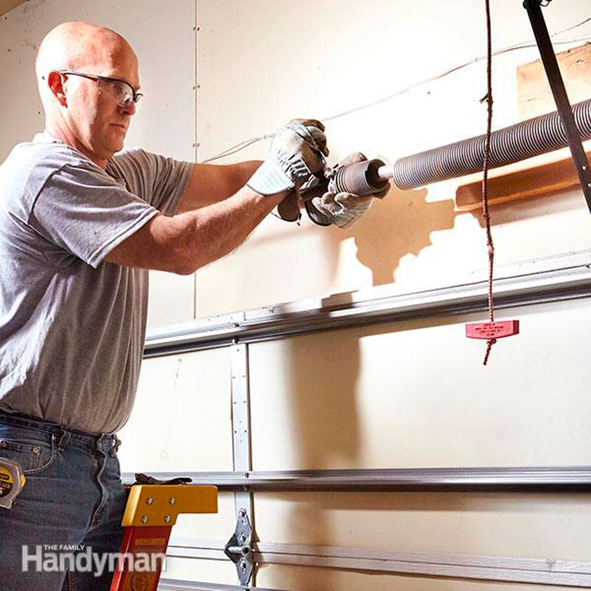 How To Repair Garage Door Springs And Cables With Images Garage Door Spring Repair Overhead Garage Door Garage Door Springs