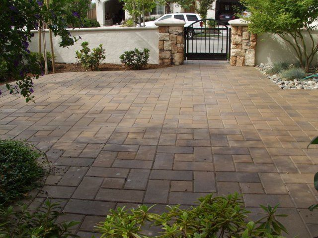 Brown Driveway Pavers : Mission series color tan brown style