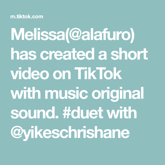 Melissa Alafuro Has Created A Short Video On Tiktok With Music Original Sound Duet With Yikeschrishane Comedy Skits The Lennon Sisters The Originals