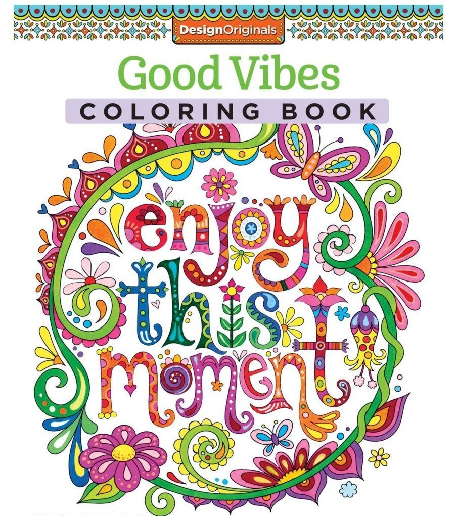 Adult coloring books ebay - Adult Coloring Book Good Vibes Coloring Is Fun 2 Day Free Shipping Ebay