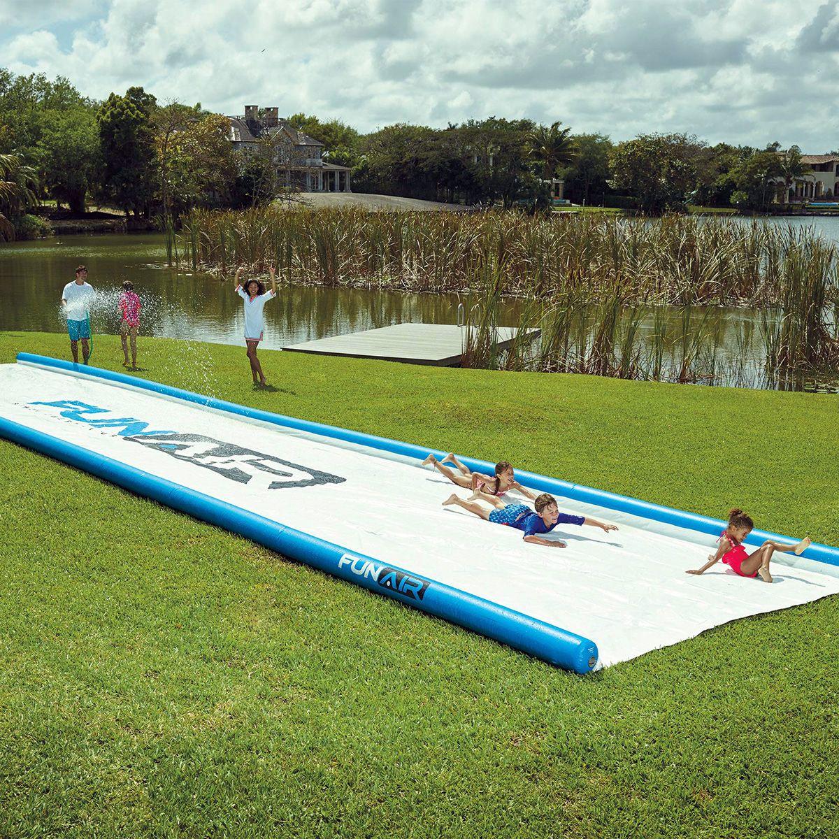 Gigantic Backyard Water Slide in 2020 | Water slides, Slip ...