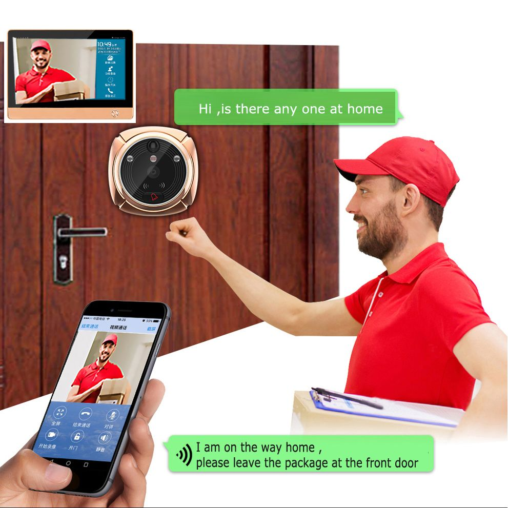 Upgraded WIFI Video Intercom Door Phone Smart Home Security System WiFi Doorbell  Camera,front Door