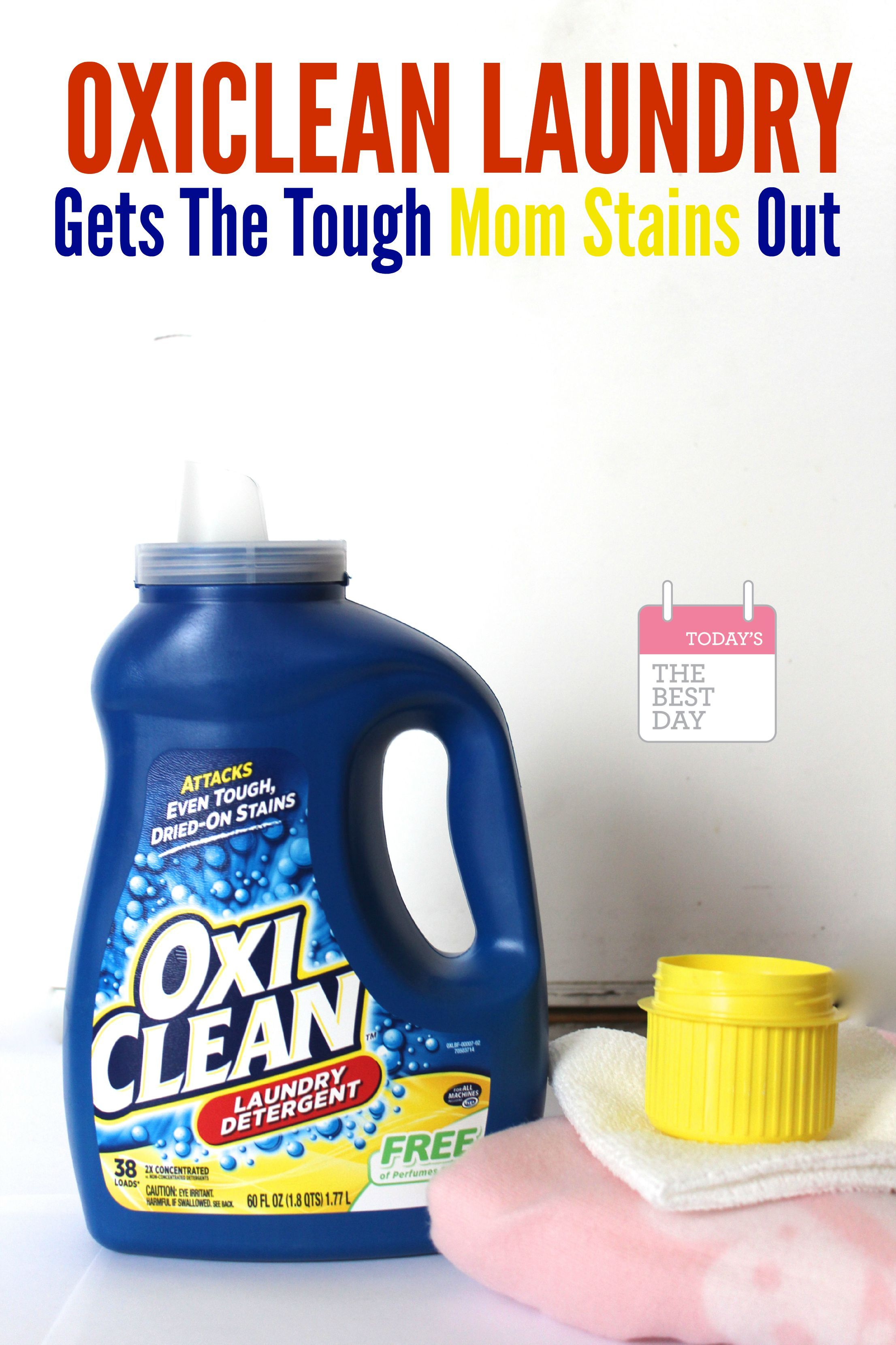 Oxiclean Laundry Gets The Tough Mom Stains Out Today S The