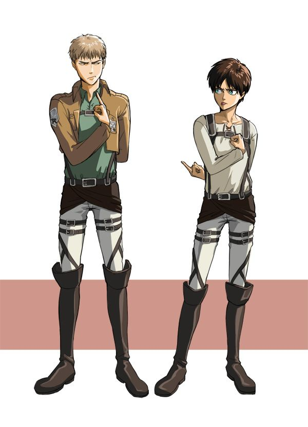HAHA! XD Such children, you two. Jean and Eren Shingeki no Kyojin