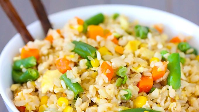 Vegetable fried rice is a Chinese takeout comfort food that's easy to make at home!