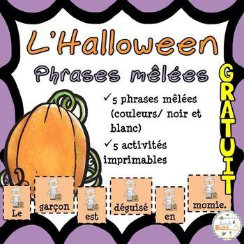 L'Halloween - Phrases mêlées - French Halloween - GRATUIT ...