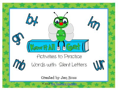 KnowIt All Gnat  Fun Pack For Teaching Silent Letter Words  Top