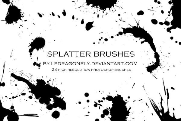 Splatter Brushes By Ivadesign Ink Splatter Photoshop Brushes