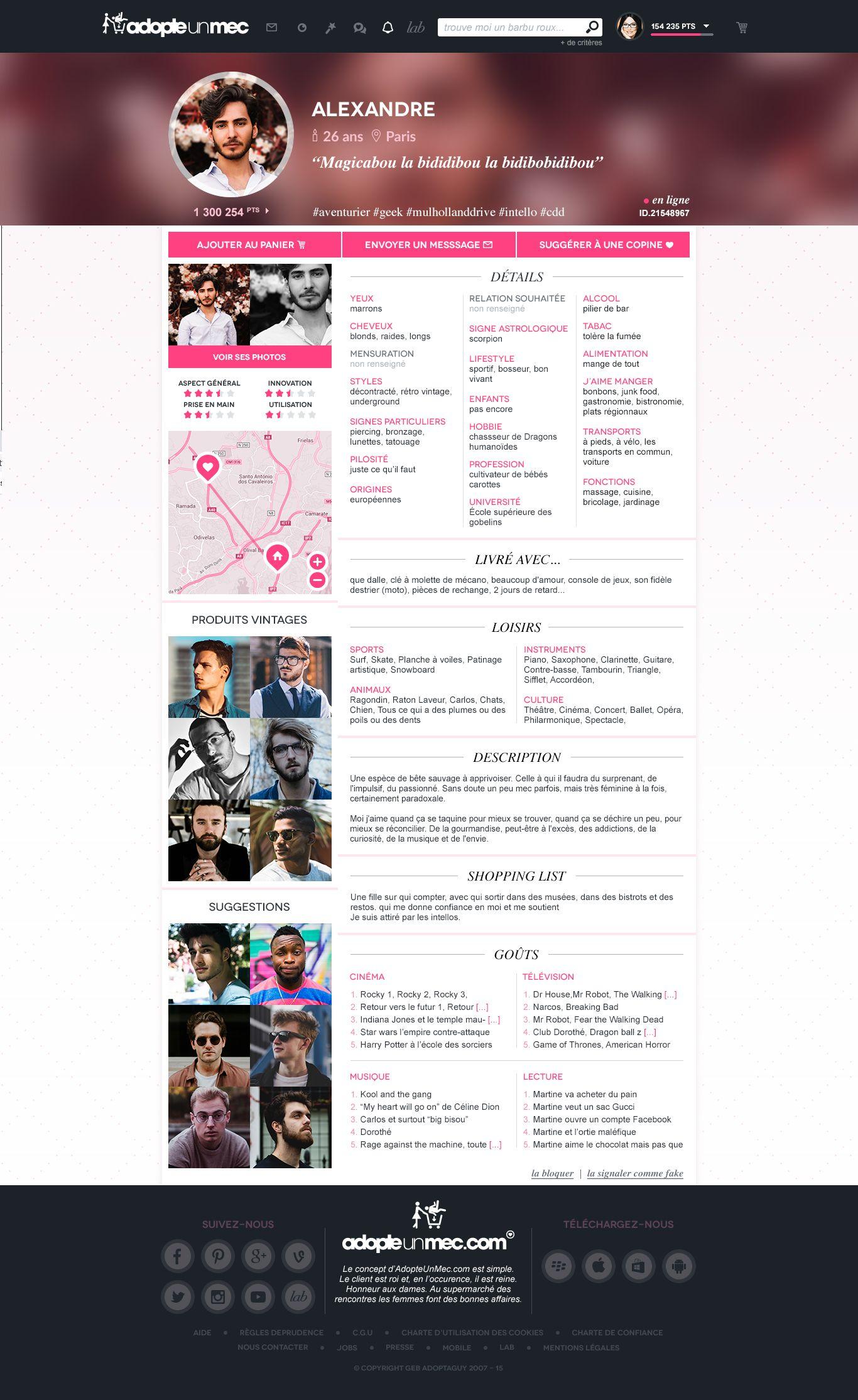 site de rencontre profil