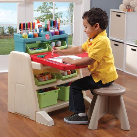 step2 flip amp doodle easel desk with stool walmart com play