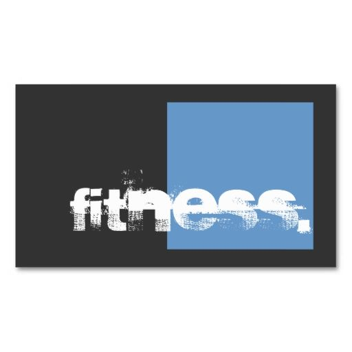 Gray blue personal trainer fitness business card trainer fitness gray blue personal trainer fitness business card reheart Gallery