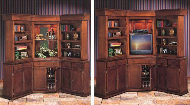 Walk Up Bar Shelves Bookcase Storage Furniture Home