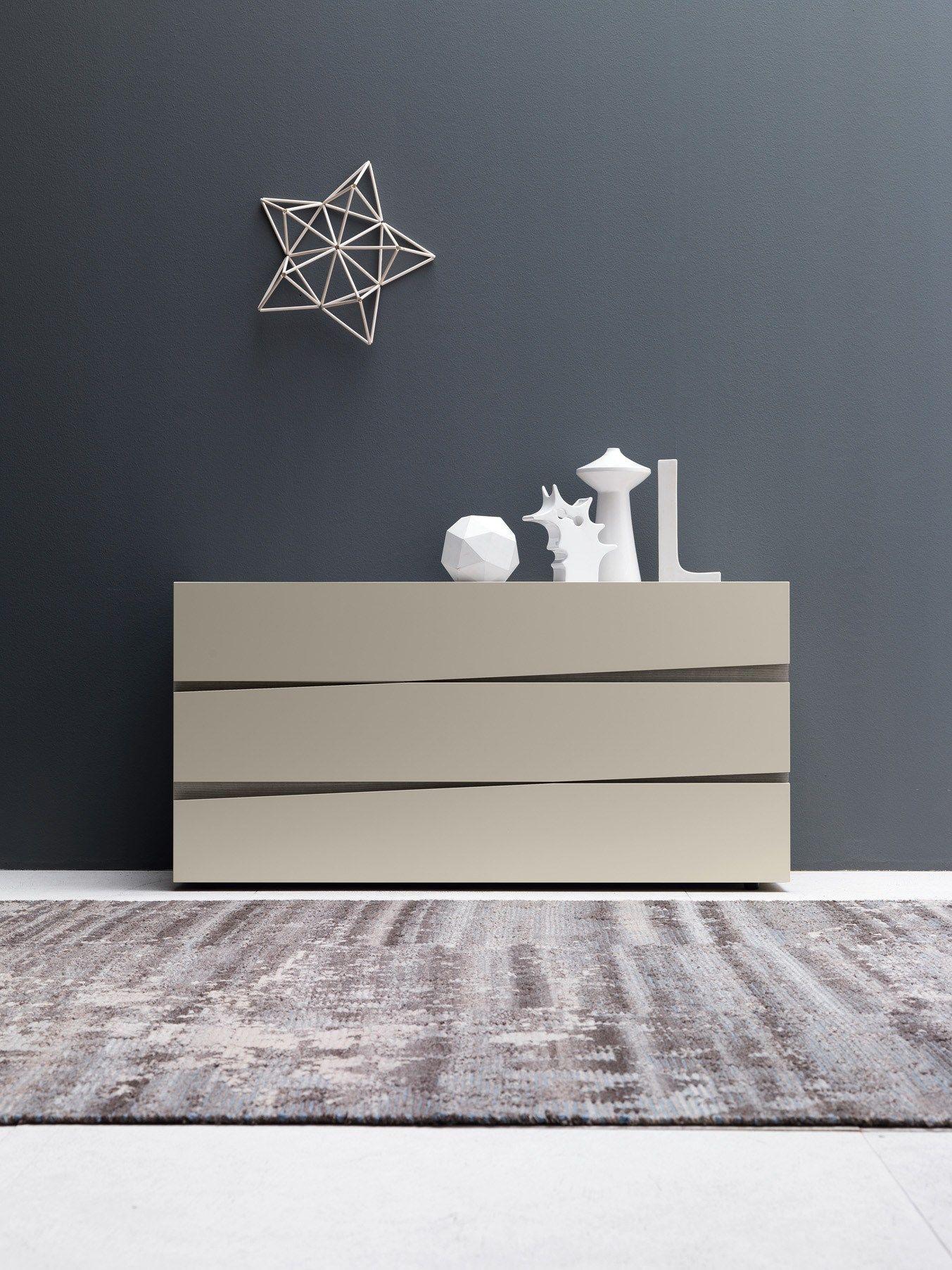 Commode laqu e en bois de style contemporain jazz for Presotto industrie mobili spa