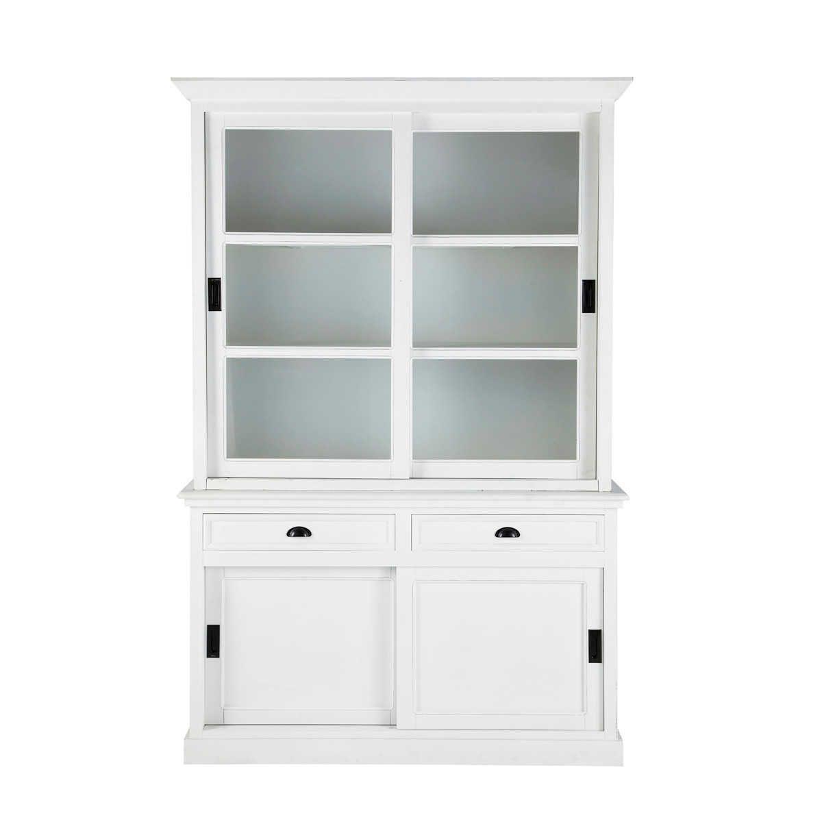 vaisselier en pin blanc l 145 cm vaisselier bois blanc. Black Bedroom Furniture Sets. Home Design Ideas
