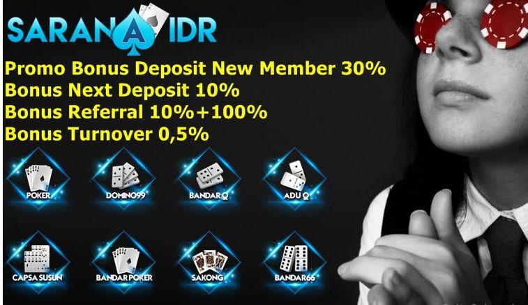Bonus Terbesar Deposit New Member 30 Beserta Bonus Referral 10 100 Setiap Minggunya Mendapatkan Bonus Turnover 0 5 Dapat Ditemui Disitus Saranaidr Com Minggu