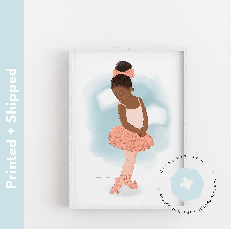 Good Little Girl Art Print African American x Ballerina Decor x Nursery Wall Art